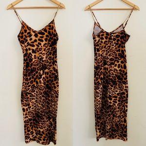 H & H | Animal Print Midi Dress Sz M